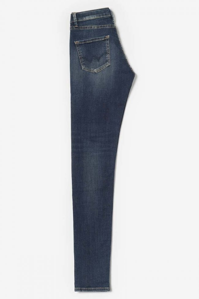 Blue high waist power basic slim jeans N°2