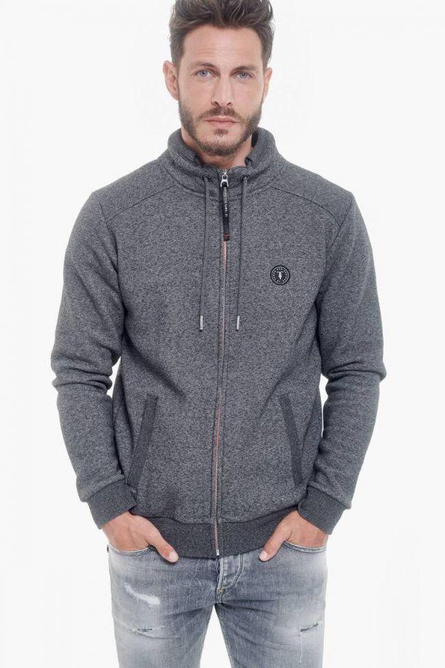 Charcoal grey Brizar zipped sweatshirt
