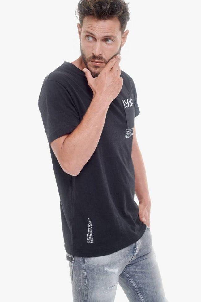 T-Shirt Marble noir