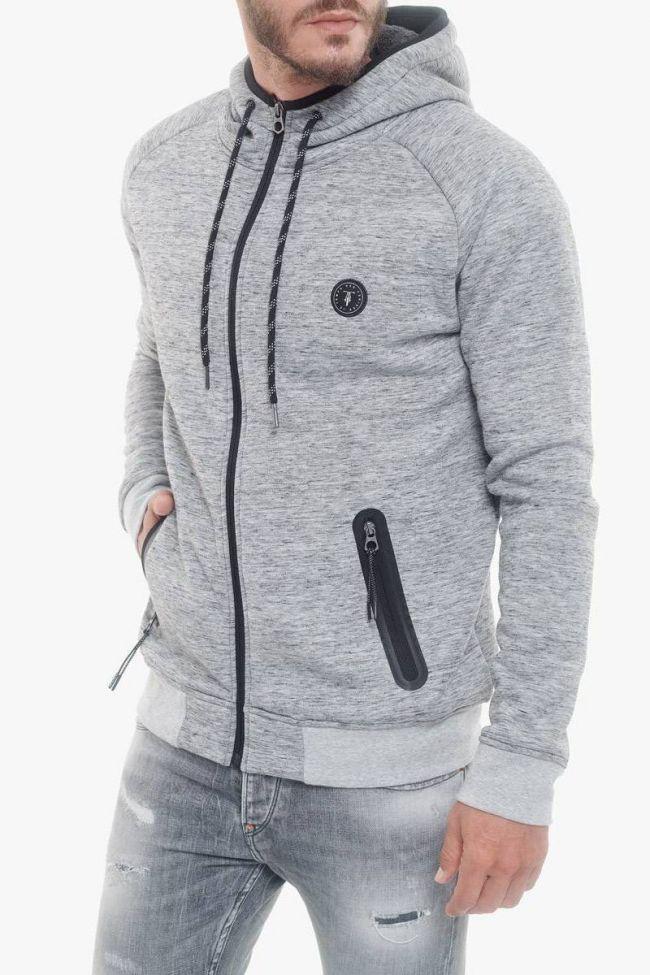 Velor grey hoodie