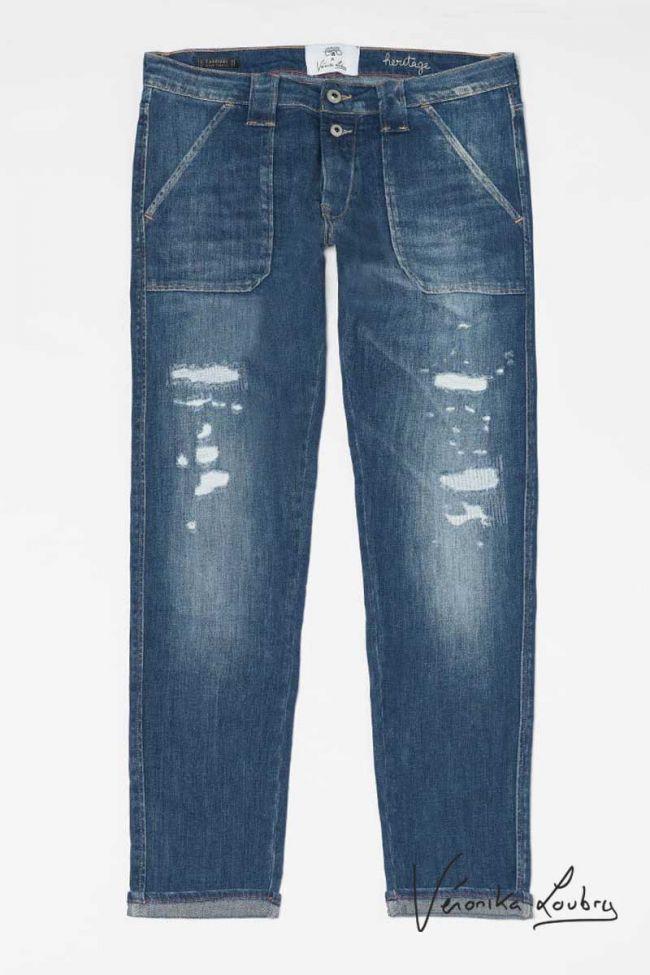 Eve 200/43 boyfit by Véronika Loubry jeans destroy bleu N°2