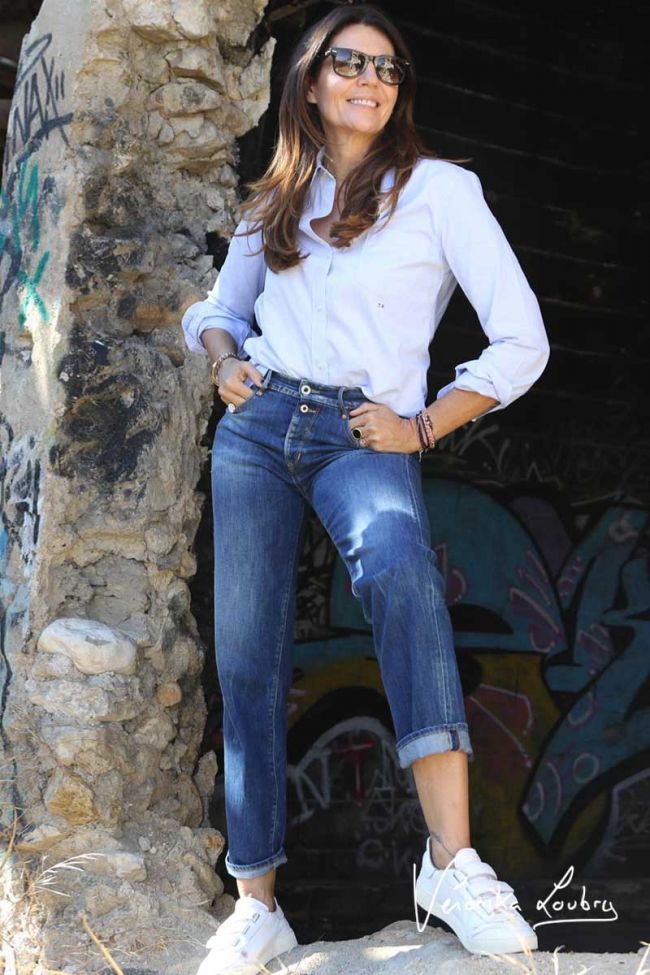 Lylian 400/18 mom regular by Véronika Loubry jeans bleu N°2