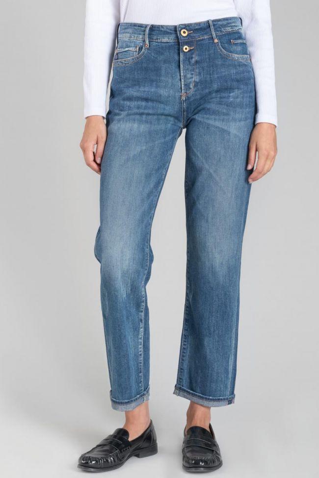 400/18 mom regular taille haute 7/8ème jeans bleu N°2