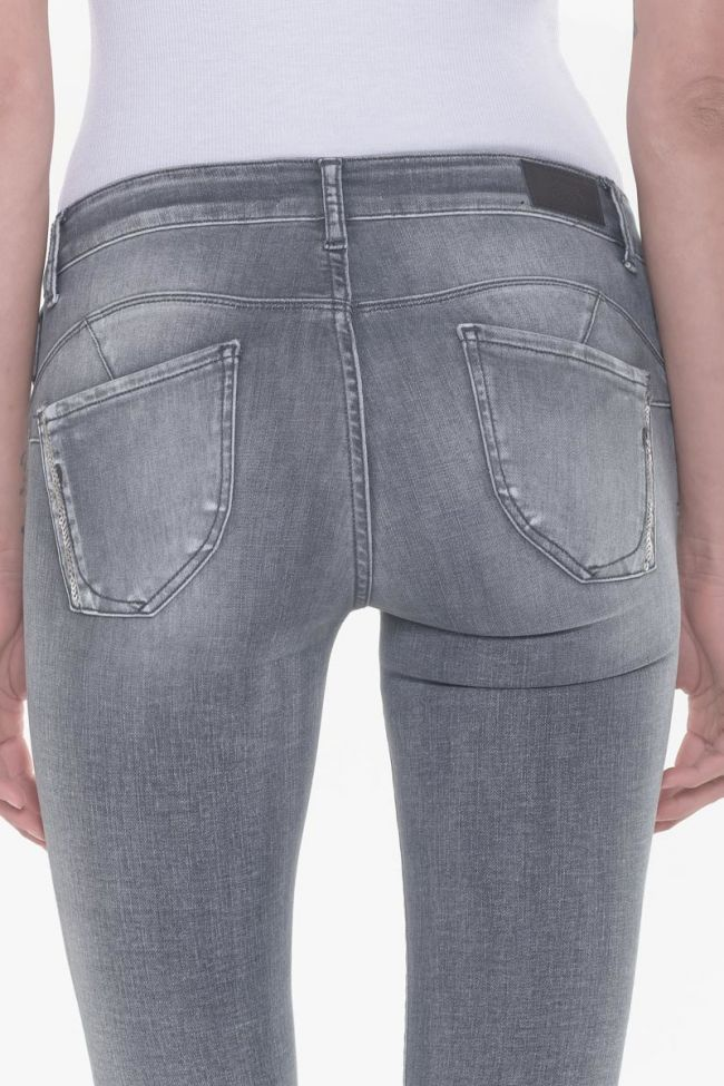 Amick pulp slim 7/8th jeans sequined grey N°2