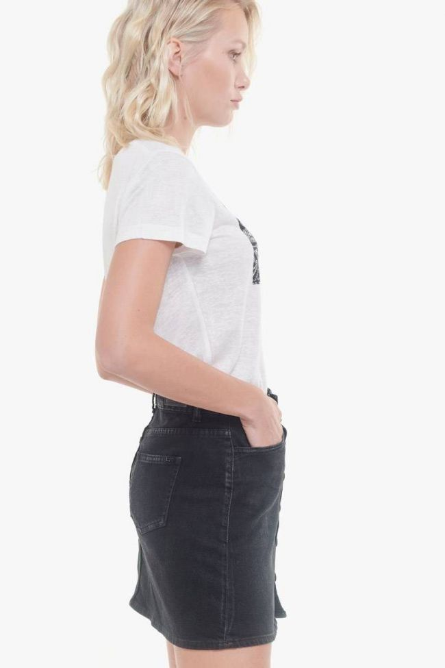 Black Beluga denim skirt
