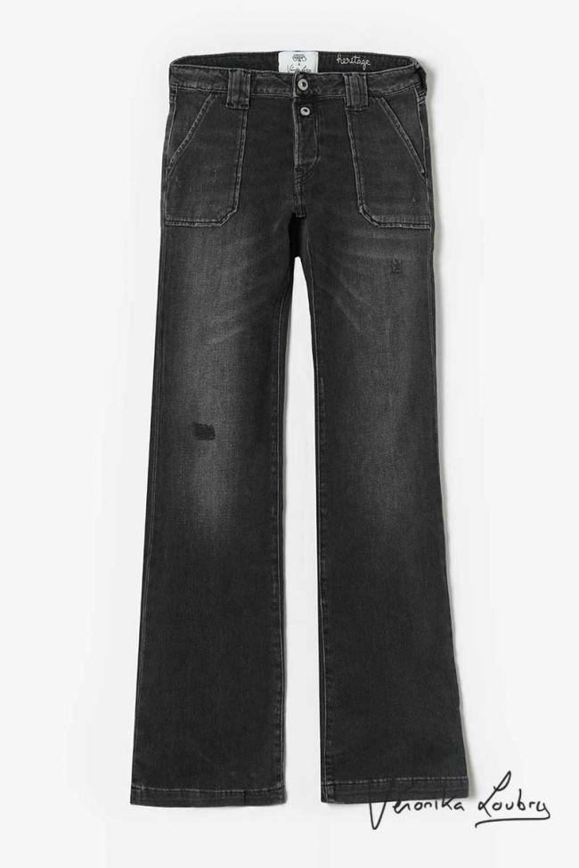 Agathe flare by Véronika Loubry jeans destroy black  N°1