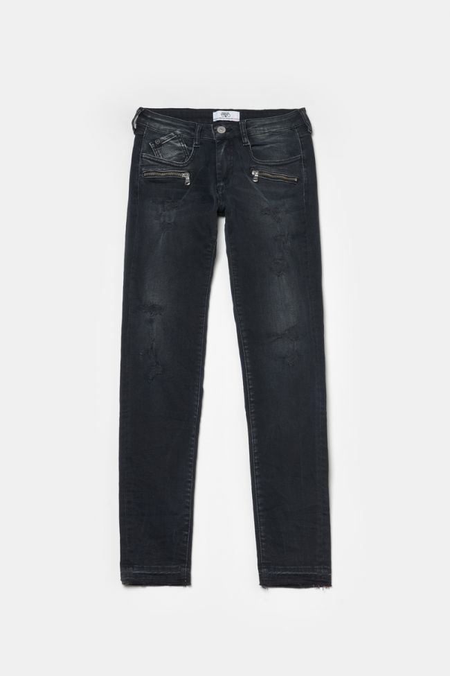 Power skinny 7/8th jeans destroy black N°1