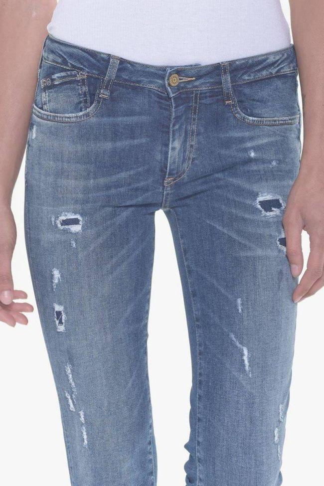 Power skinny 7/8ème jeans destroy bleu N°3