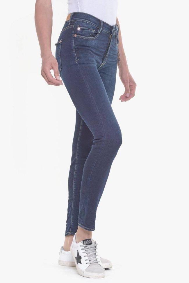Power skinny taille haute jeans bleu N°1