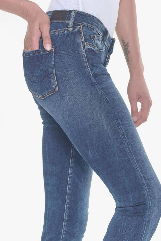 Zao ultra power skinny jeans 7/8ème bleu N°2