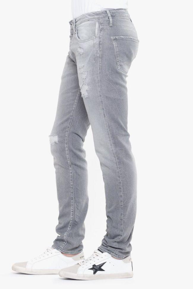 700/11 slim jeans destroy gris N°3