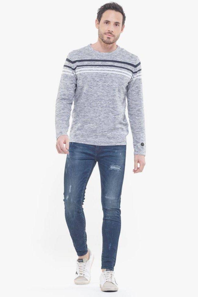 Power skinny 7/8ème jeans destroy bleu N°2