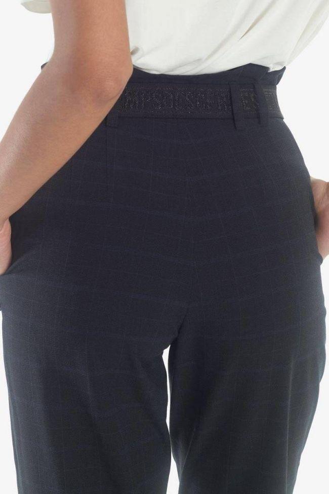 Jen high waist navy trousers