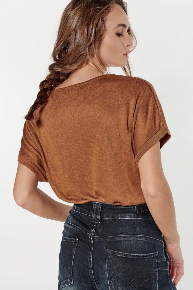 Chocolate brown Bota t-shirt