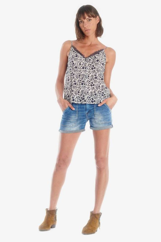 Dark blue floral pattern Canay camisole