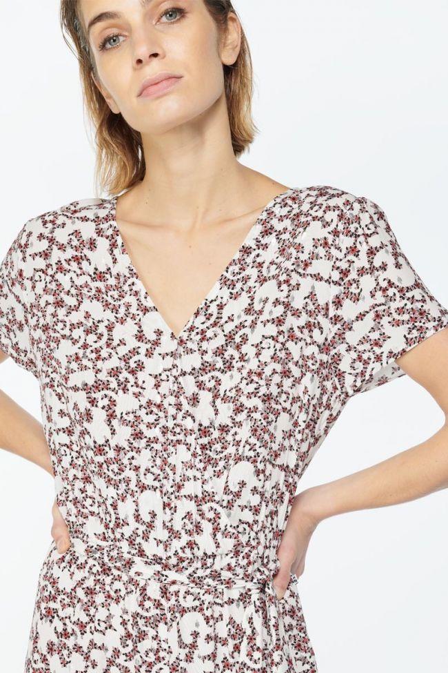 Combinaison Galice blanche à motif floral