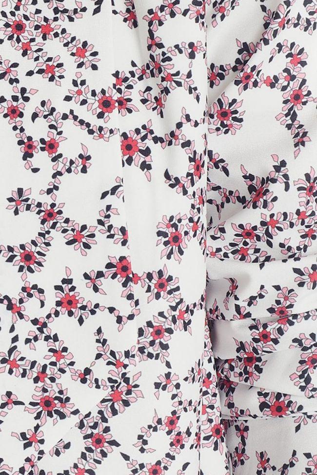 White flora pattern Goya jacket