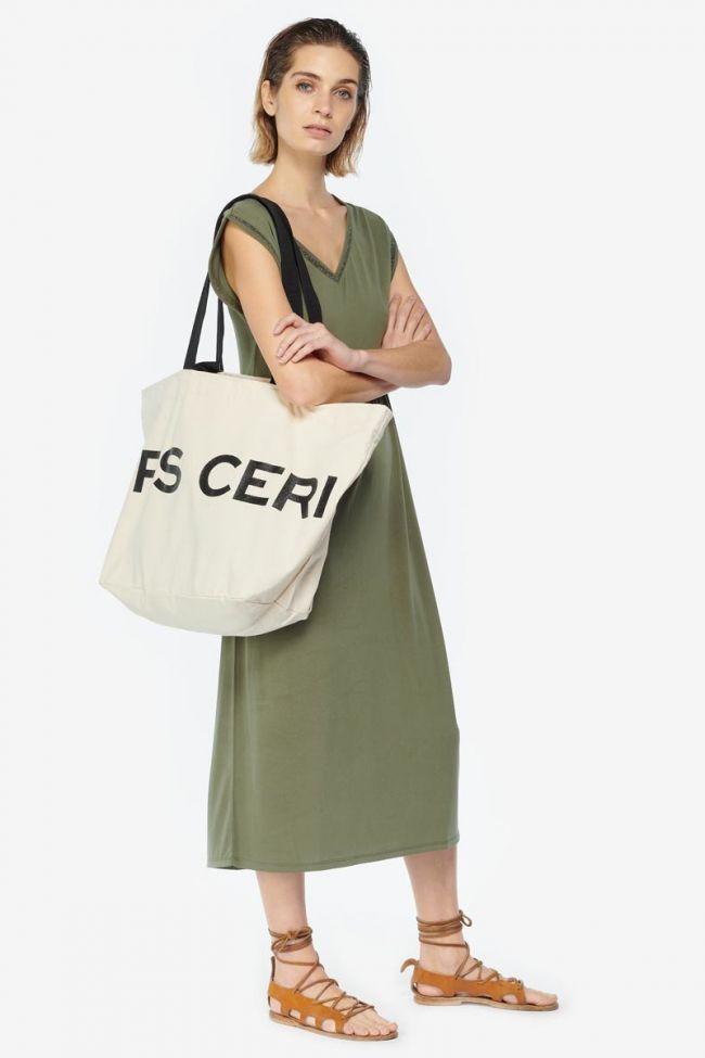 Cream Java canvas bag