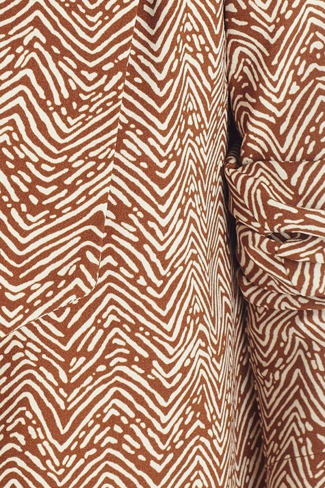 Veste Musa marron à motif ethnique