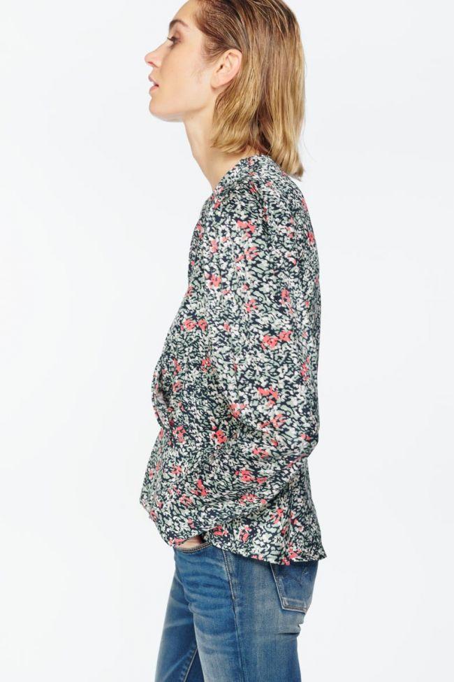 Chemise Petra amande à motif floral