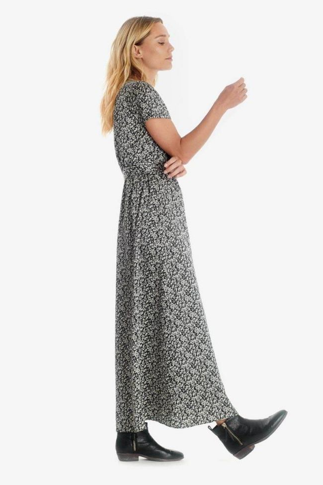 Black Rugy dress with floral pattern