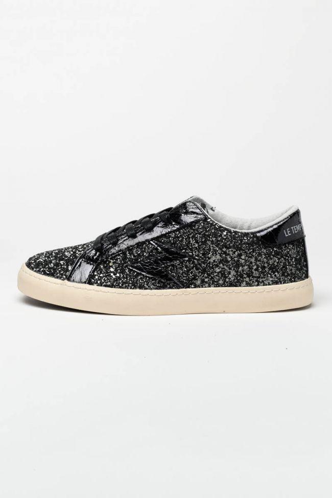 Black Soho glitter sneakers