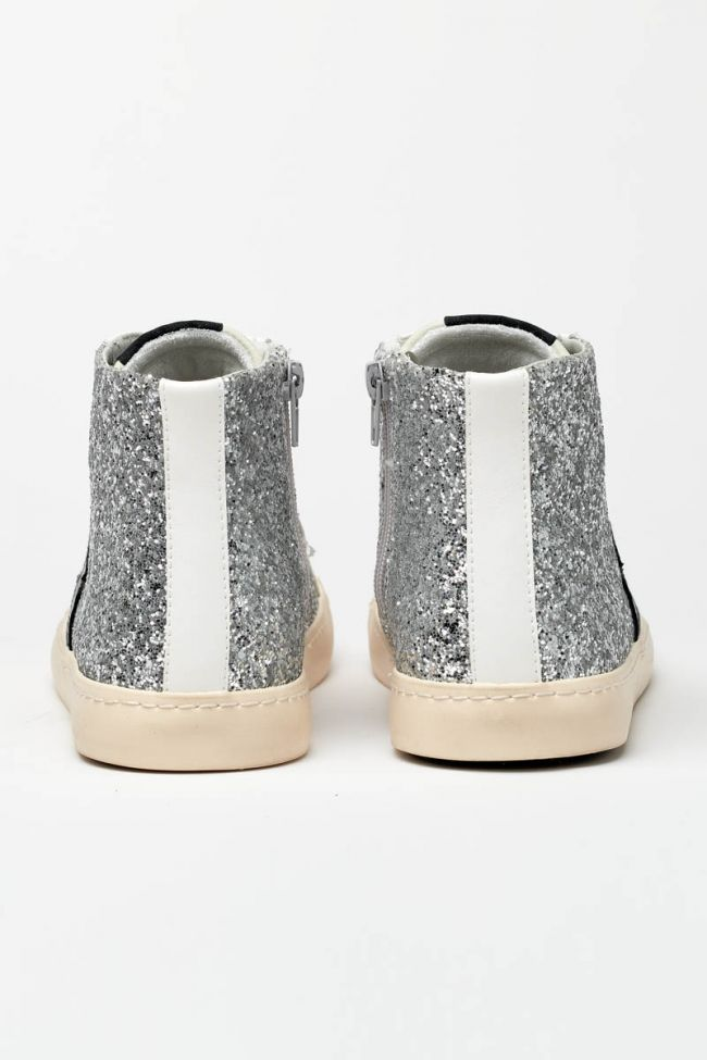 Soho high top sneakers with silver glitter