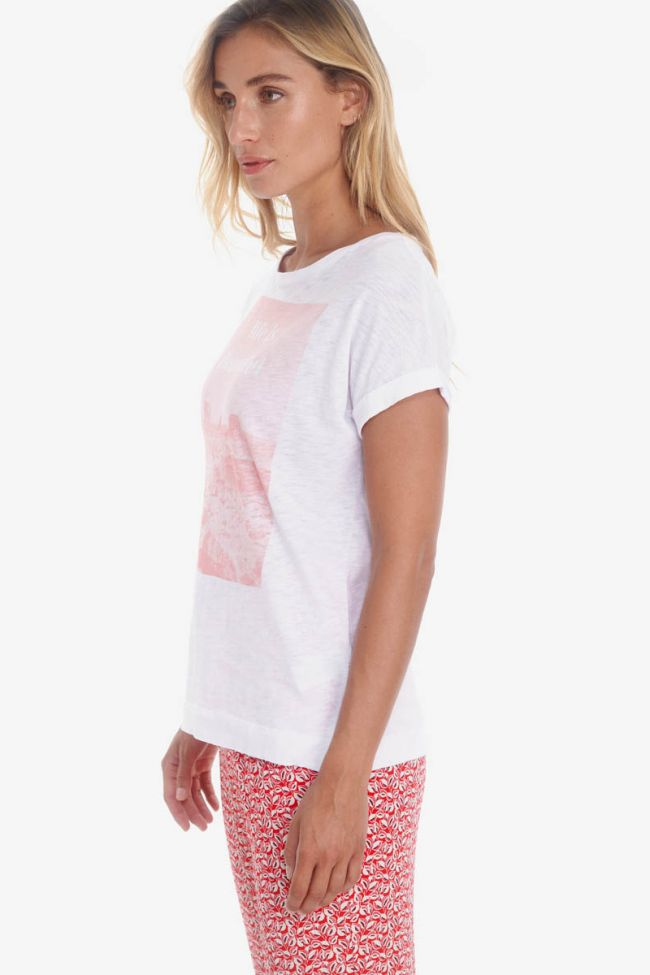 White printed Thamis t-shirt