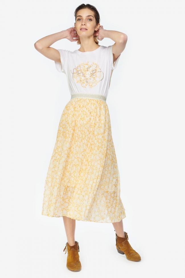 Jupe Zonza jaune à motif floral