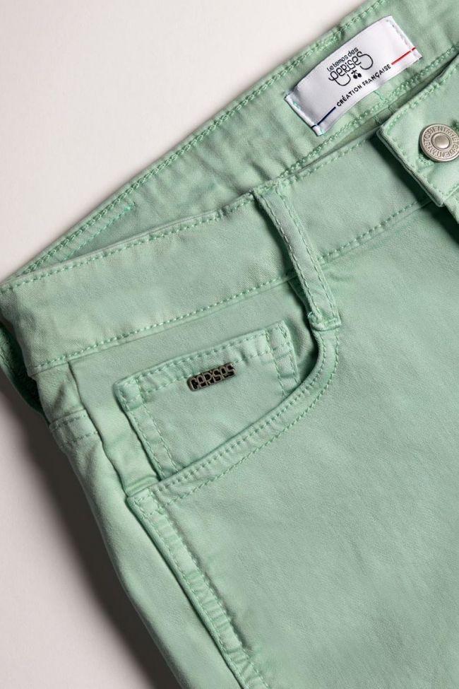 Short Col 3 en jeans vert d'eau