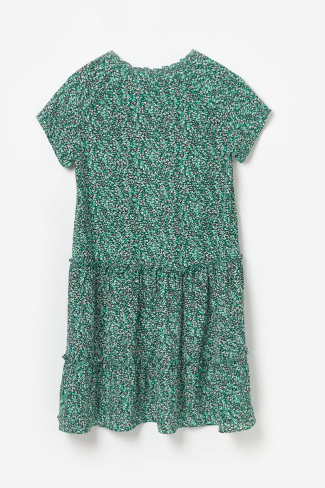 Colettagi dress with green floral pattern