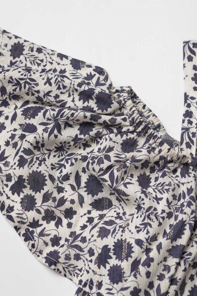 Navy and white floral pattern Gabgi tank top