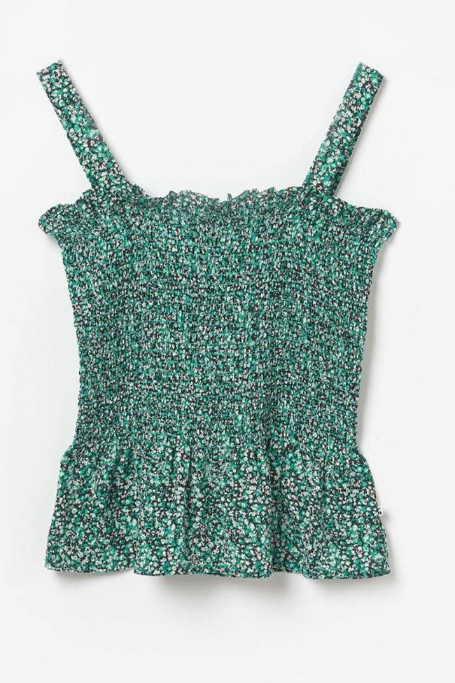 Green floral pattern Hedygi tank top