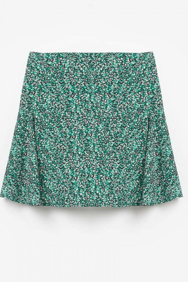 Green Inesgi floral pattern skirt