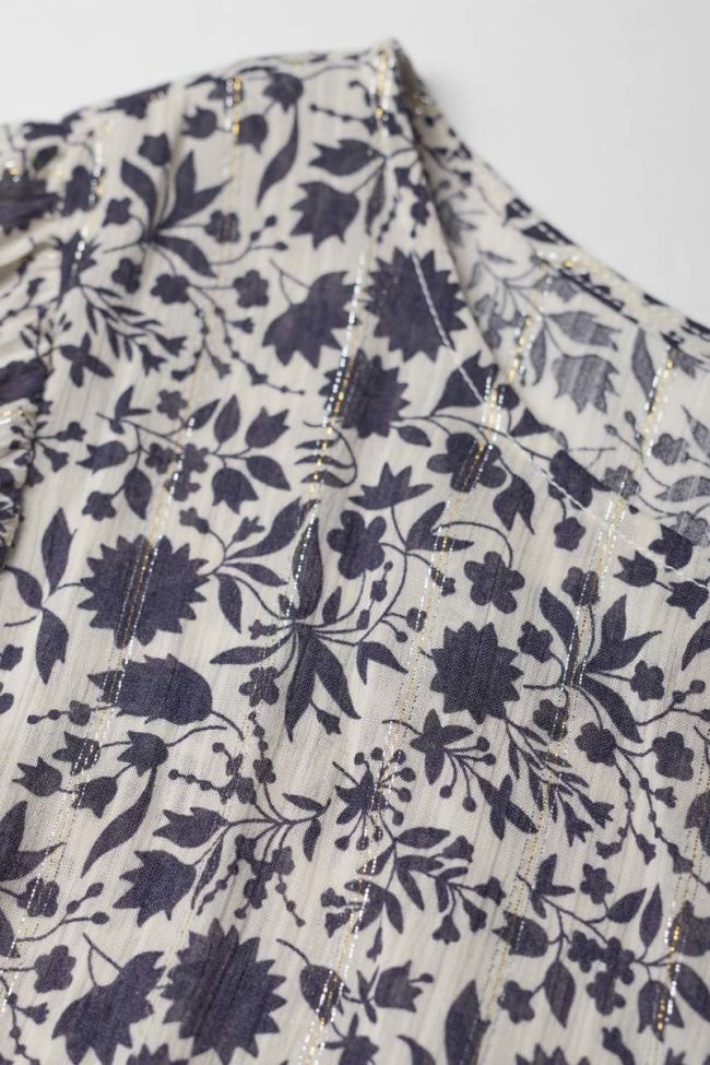 Navy and white floral pattern Maouigi dress