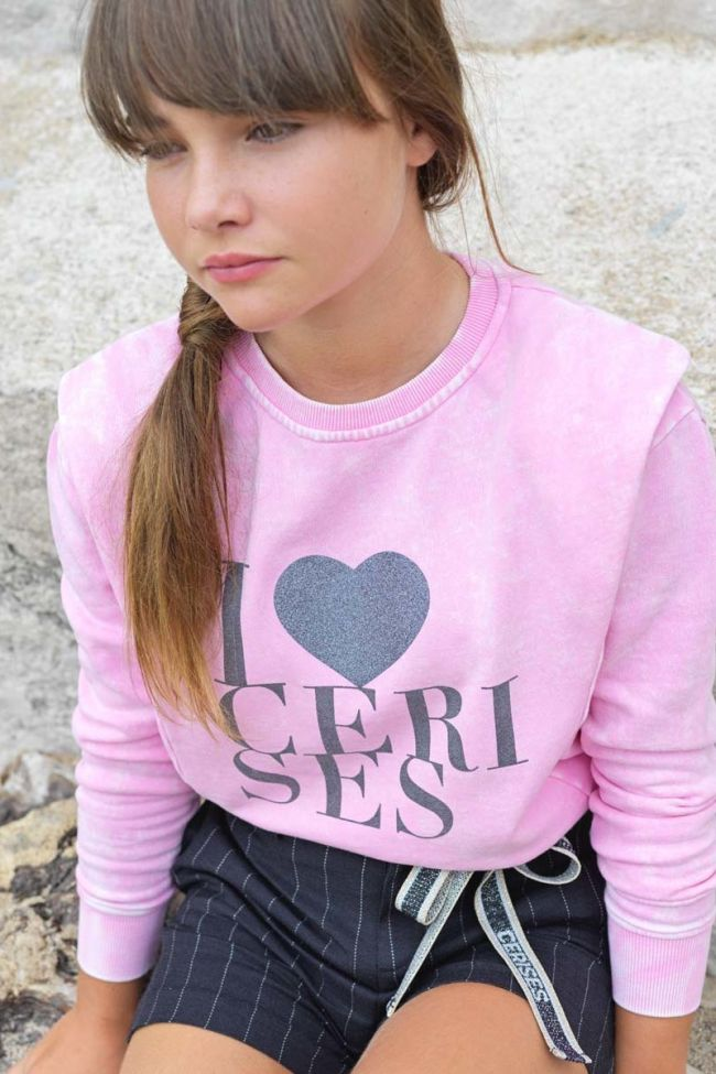 Stonewashed pink Nantygi sweatshirt