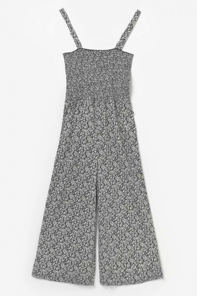 Combinaison pantalon Telagi noire à motif floral