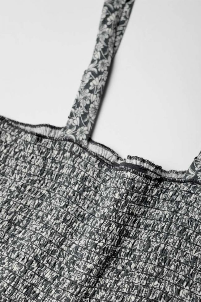 Black floral pattern Telagi trouser jumpsuit