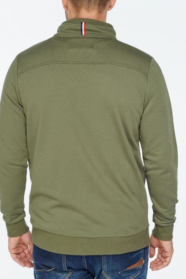Khaki zipped Bartel sweatshirt