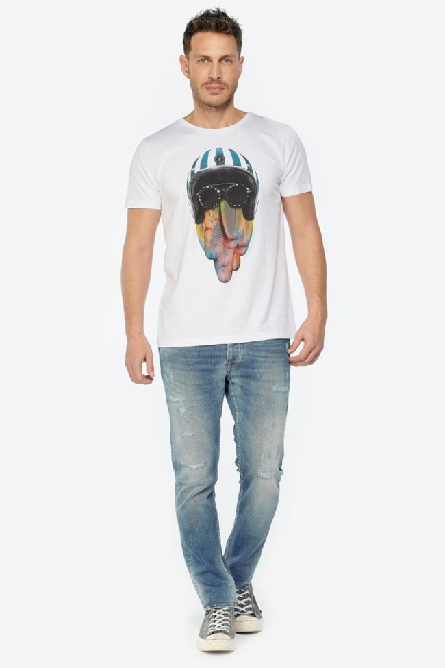 T-shirt Covent blanc imprimé