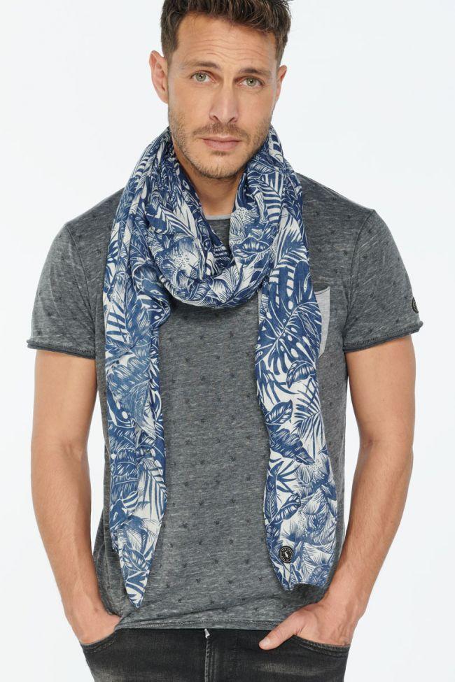 Blue floral pattern Ferjan scarf