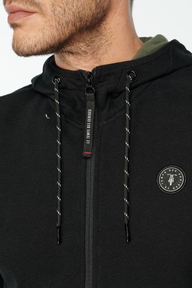 Sweat à capuche zippé Gesti noir