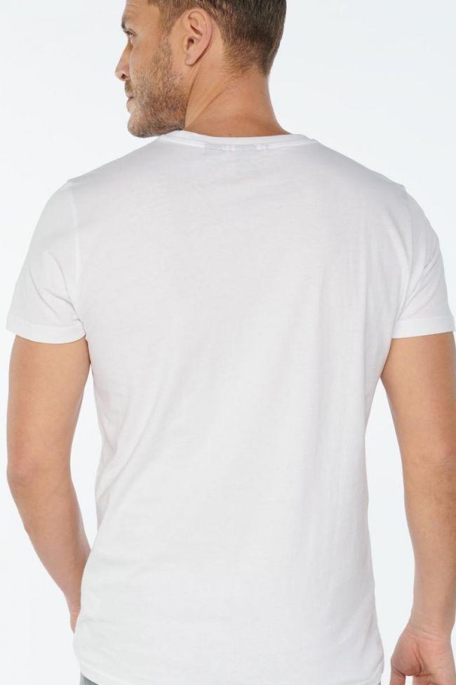 White printed Portage t-shirt