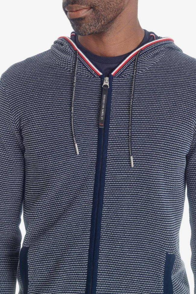 Sweat à capuche zippé Tedal bleu