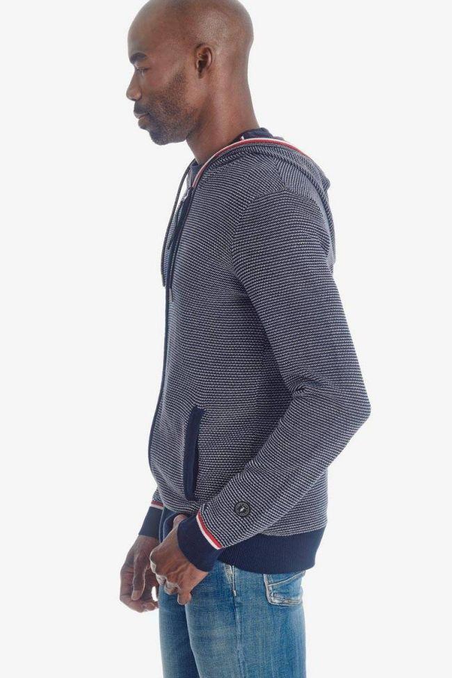 Blue Tedal zipped hoodie