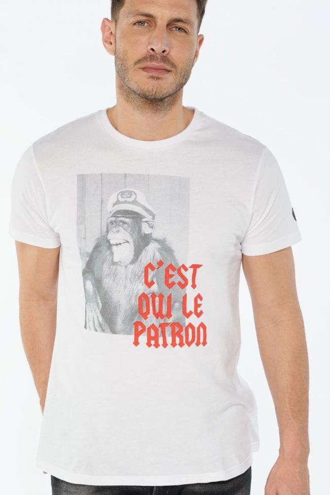 T-shirt Tora blanc imprimé