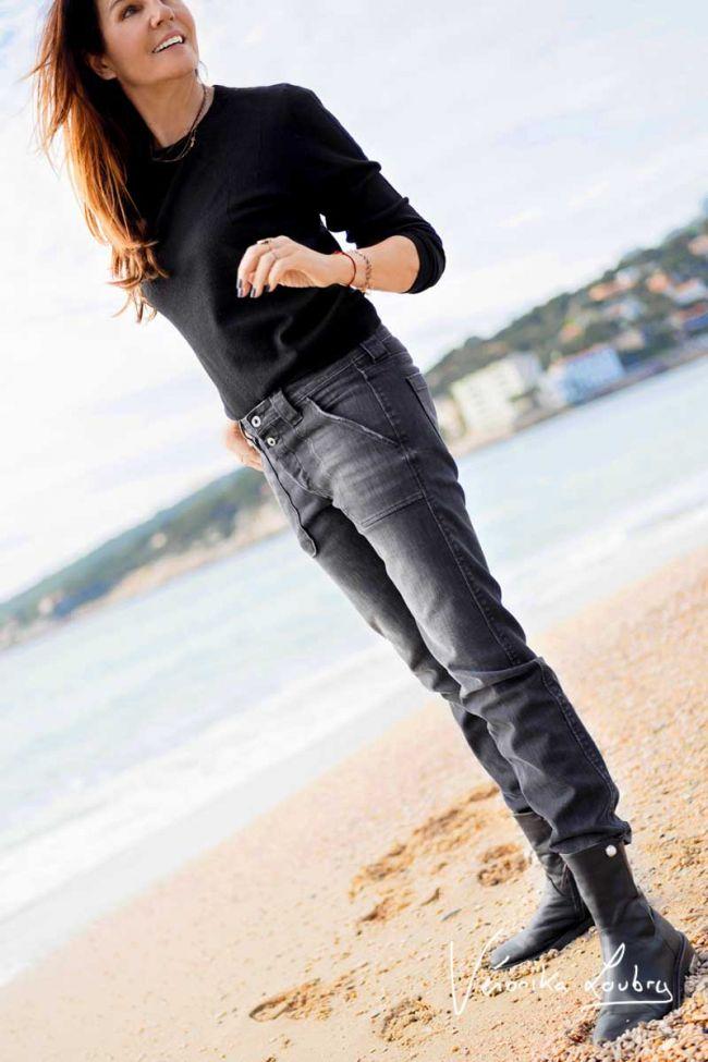 Rock 200/43 boyfit by Véronika Loubry jeans grey N°1