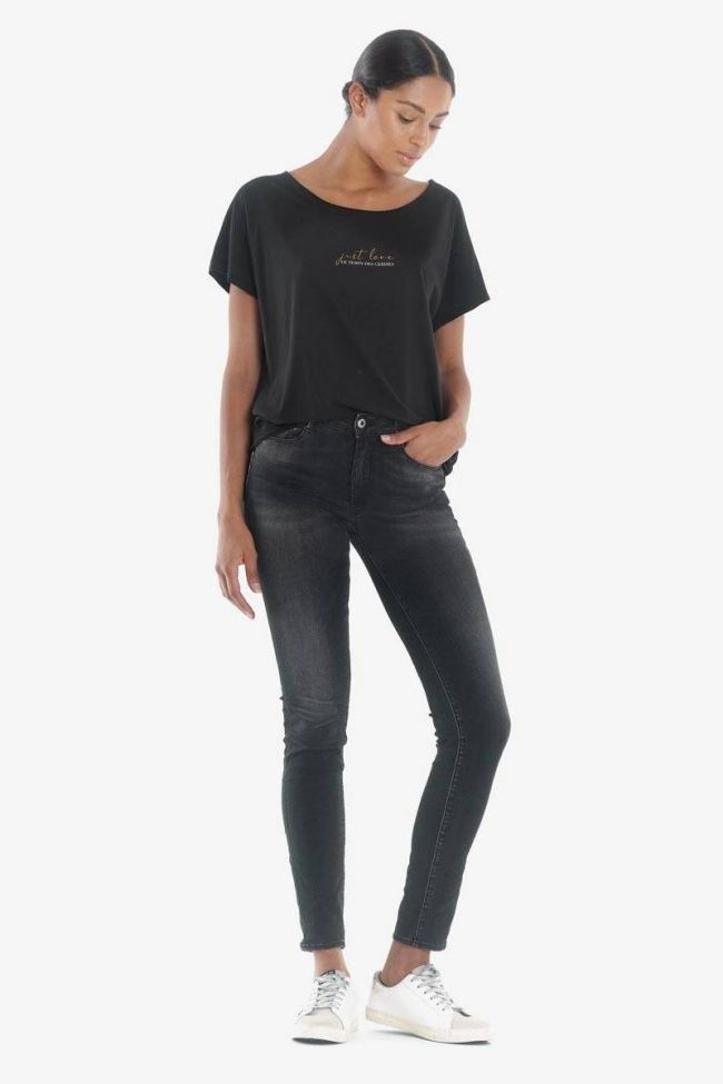 Acya pulp slim high waist 7/8th jeans black N°1