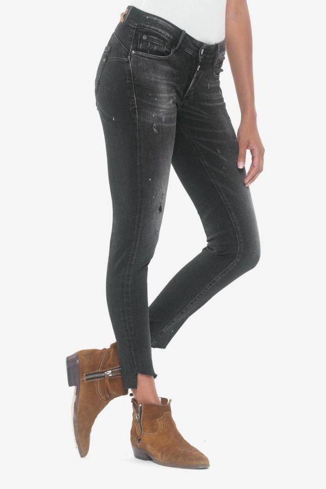 Alais pulp slim 7/8ème jeans destroy noir N°1