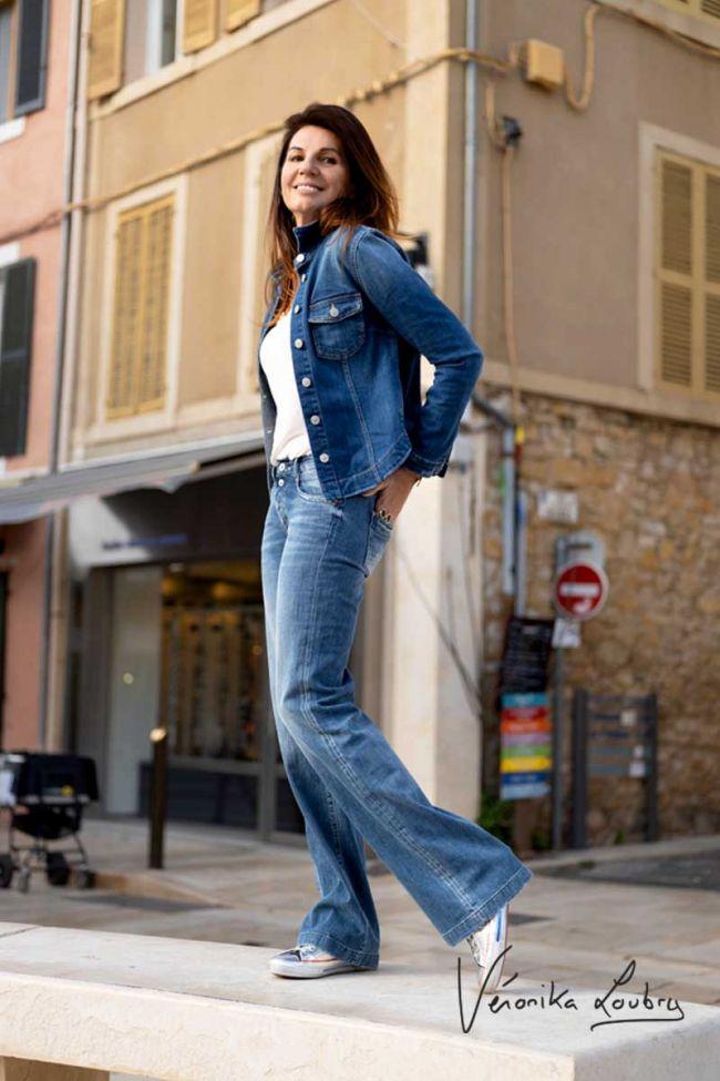 Jazz flare by Véronika Loubry jeans bleu N°2